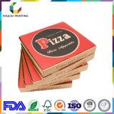 Boîte recyclable à pizza de papier d'emballage de catégorie comestible