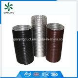 Conducto flexible de aluminio semirrígido negro para los sistemas industriales de la HVAC