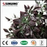 조경 장식을%s 인공적인 자주색 플랜트 잎 벽