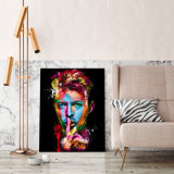 HD ha stampato la pittura di David Bowie del cantante di roccia sulla tela di canapa Mc-044 della maschera del manifesto della stampa della decorazione della stanza della tela di canapa