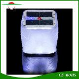 Lanterne solaire gonflable 10LED de PVC de cube avec la lampe solaire de piscine du voyant de signalisation, lumière campante solaire Emergency