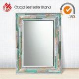 Specchio di legno della parete del blocco per grafici riciclato oggetto d'antiquariato (LH-423629)