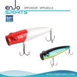 Atração superior seleta do equipamento de pesca de Popper da água do pescador com Vmc os ganchos Treble (SPP140109)
