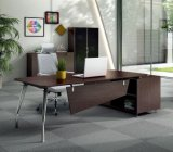 까만 겸손 위원회 강철 다리 나무로 되는 행정실 테이블 (HX-NCD018)