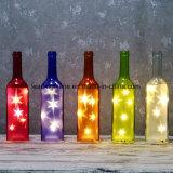 온난한 백색 LED 생일 Starlight 병 백색 유리는 감정적인 메시지 병을 불이 켜진다
