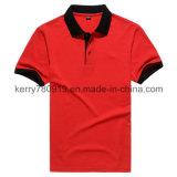 Chemise de polo compétitive d'Embroidey d'amorçage d'or du Jersey de coton de promotion (DH-T115)