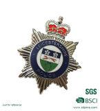 Kundenspezifische Zink-Großhandelslegierungs-Badge materielle harte Decklack-Polizei