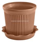 皿(KD9301-KD9303)が付いているプラスチック植木鉢