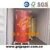 Papier sans carbone de NCR de couleur en roulis 60GSM