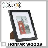 Frame de suspensão de madeira preto da foto do retrato da decoração com esteira