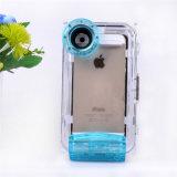 Bolso móvil impermeable profesional subacuático de la caja del teléfono celular del salto profundo de los 40m para el iPhone 5/6/6plus