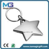 高品質によってカスタマイズされるロゴのブランクの金属の星Keychain