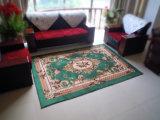 Falanelのイスラム教の印刷の反スリップベース居間の敷物