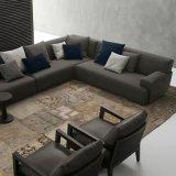 Sofá moderno europeu da tela da mobília da sala de visitas (F629-11-1)
