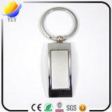 Corrente chave simples de anel chave do metal do brilho