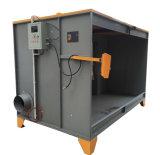 Grande cabine de jet manuelle industrielle de poudre avec des filtres de reprise de poudre