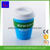 360ml 12oz Plastikkaffeetasse und Becher mit Silikon-Deckel, blaues Cup mit Kappe