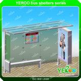 Personnaliser la publicité à l'extérieur Afficheur de rue Affichage Bus Stop Shelter