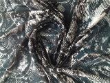 Arruga de seda impresa modelo Ggt de la piel animal