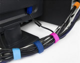Цветастые многоразовые связи крюка и кабеля петли для линий компьютера
