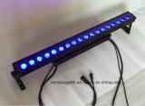 Wasserdichte 18X15W RGBWA UV6in1 LED Wand-Unterlegscheibe-Stadiums-Beleuchtung