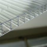 Hoog Effect Vier van het polycarbonaat het Holle Blad van de Muur voor het Dak van het Zonnescherm