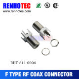 F 4legs 탭 센터 cont.를 가진 똑바른 Recept 잭 PCB 기간 75 옴 연결관