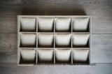 Поднос витринного шкафа ювелирных изделий вахты мешковины собрания залива Caddy держит 12 вахты