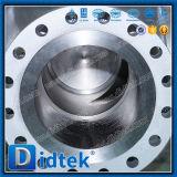 Valvola a sfera a tre vie della flangia del acciaio al carbonio di Didtek