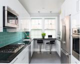Gabinetes de cozinha de madeira elegantes da forma redonda