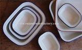 Vaisselle d'assiette de beurre d'émail