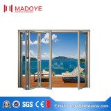 Porte coulissante en aluminium de type européen avec la glace Tempered pour la villa