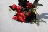 Высокий цветок Rose чая камелии искусственних цветков Quility Silk