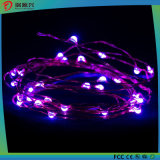 Света шнура, супер яркая теплая пурпуровая веревочка провода цвета Свет-Пурпуровая