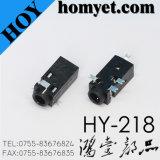 Prise de téléphone de type SMT de 2,5 mm Prise audio avec mât d'enregistrement à 5 broches