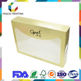 Atacado 350g Coated Paper Cmyk Color Printing Cosmetic Folding Box para Face Powder Matte Laminaton Spot UV