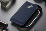 Крышка случая TPU телефона углерода почищенная щеткой волокном Bumper для Xiaomi 4s