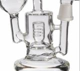 Doppelter Grundmassegewölbter Showerhead-Filtrierapparat-rauchende Glaswasser-Rohre