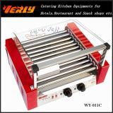 Form Durable Sausage Machine, 11 Rollers Electric Hot Dog Grill mit Glass Cover, CER Approved (WY-011)