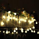 corda decorativa da esfera do diodo emissor de luz das luzes feericamente do Natal ao ar livre da luz da correia do festão do diodo emissor de luz do bulbo 6V