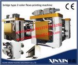 Dos Ultrasonice EPC para desenrollar y rebobinar la impresora de Flexo de 2 colores