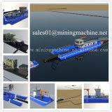アフリカの低価格の川のカッターの吸引の浚渫船機械