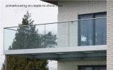 판매를 위한 구부린/U 모양 발코니 알루미늄 유리제 난간