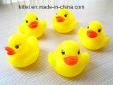 Heiße verkaufende kundenspezifische gelbe Plastikgummispielzeug-Bad-Enten