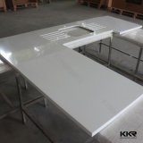 Plain White OEM Artificial Quartz Kitchen Stone Bench Tops (C170505)