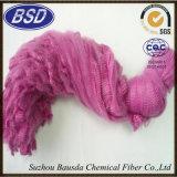 Rimorchio colorato riciclato della fibra di graffetta di poliestere per i filati di filatura