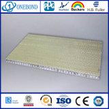 El panel del panal de la fibra de vidrio de la superficie áspera para la pared decorativa