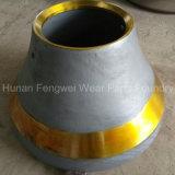 円錐形の粉砕機のための高いマンガンの鋼鉄鋳造Mn18cr2の円錐形
