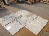 Lastra di marmo bianca superiore di Calacata di bella & buona qualità