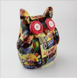 Coruja cerâmica animal Paintable por atacado da caixa de dinheiro do projeto